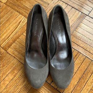 Via Spiga Grey Suede Heels Pump Shoes 8M 38